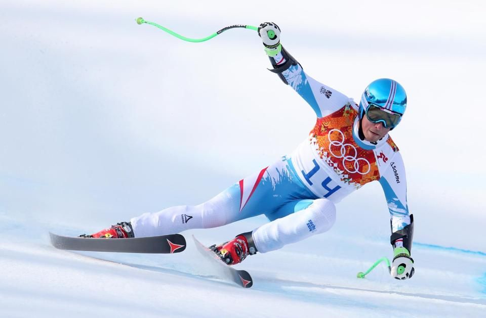 DAY 10:   Max Franz of Austria competes during the Alpine Skiing Men's Super-G http://sports.yahoo.com/olympics