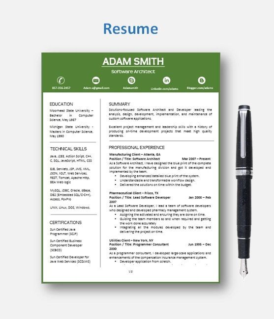 Resume Template CV Template with add-on for extra pages, Cover and