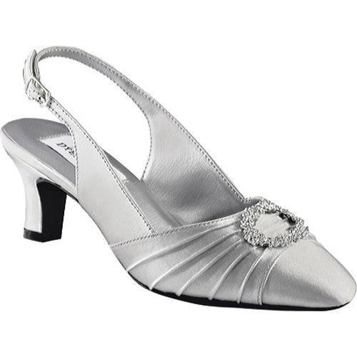 Women's Dyeables Ann Silver Satin | Overstock.com Shopping - The Best Deals  on Heels