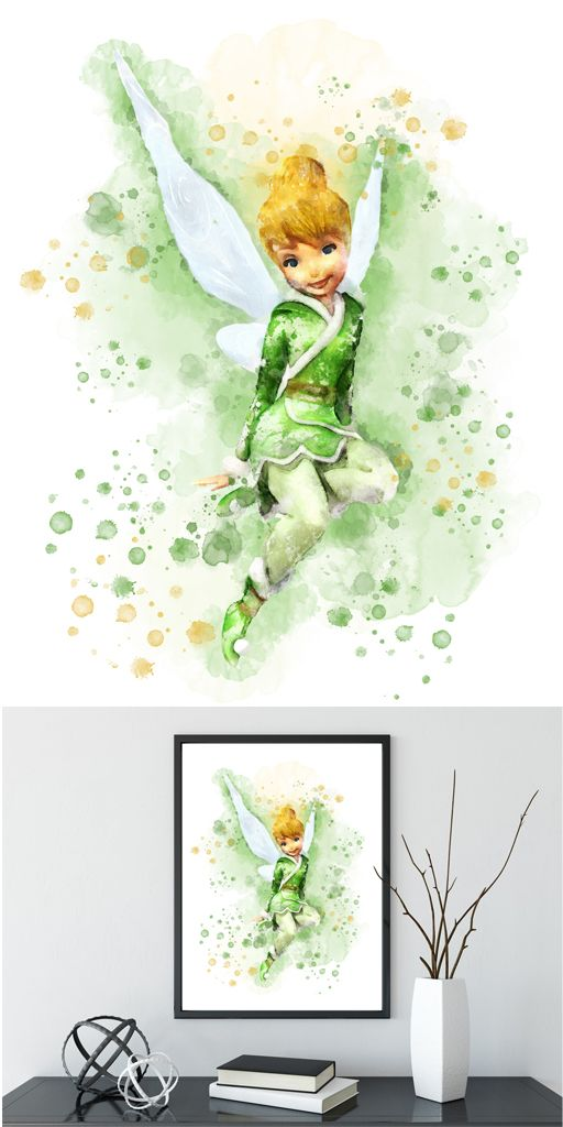 Tinker Bell Tattoo Idea Watercolor Disney Disney Art Disney