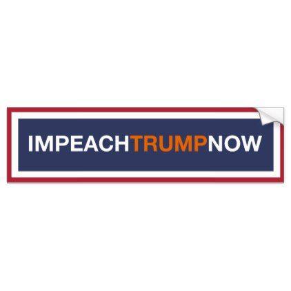 Impeach Trump Now Lock Him Up Bumper Sticker