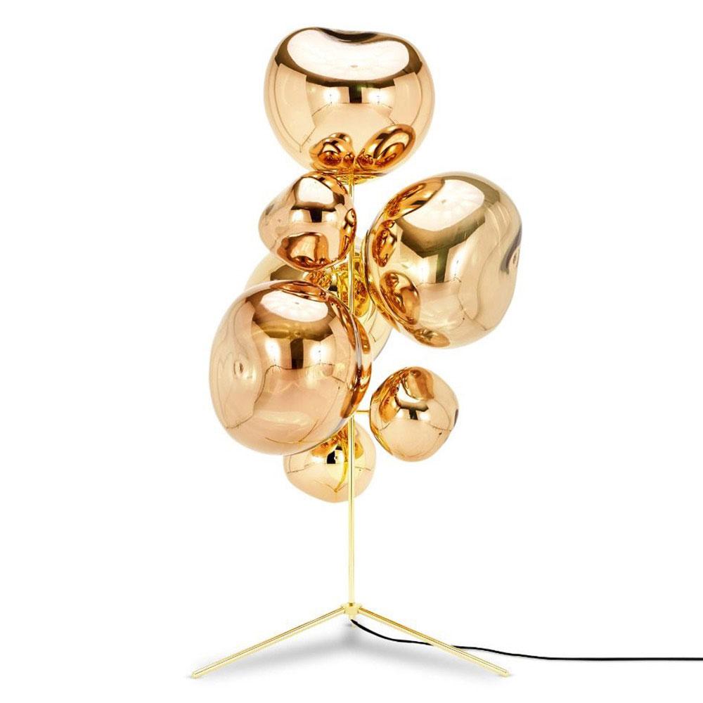 Melt Stand Chandelier Gold 2 Chandelier Floor Lamp Gold Floor Lamp Tom Dixon