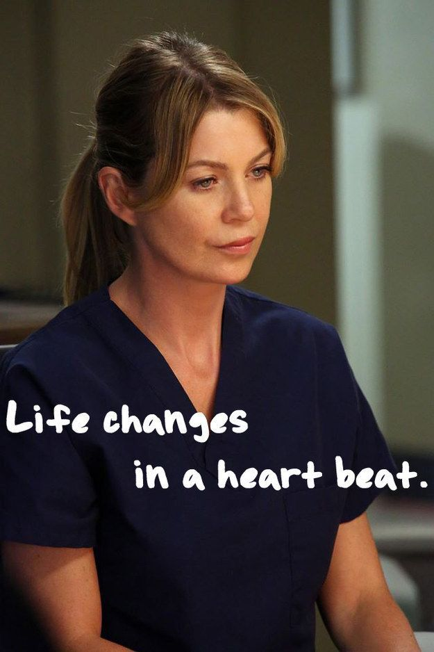 Life changes in a heart beat | - MOVIE - | Pinterest | Grey anatomy ...