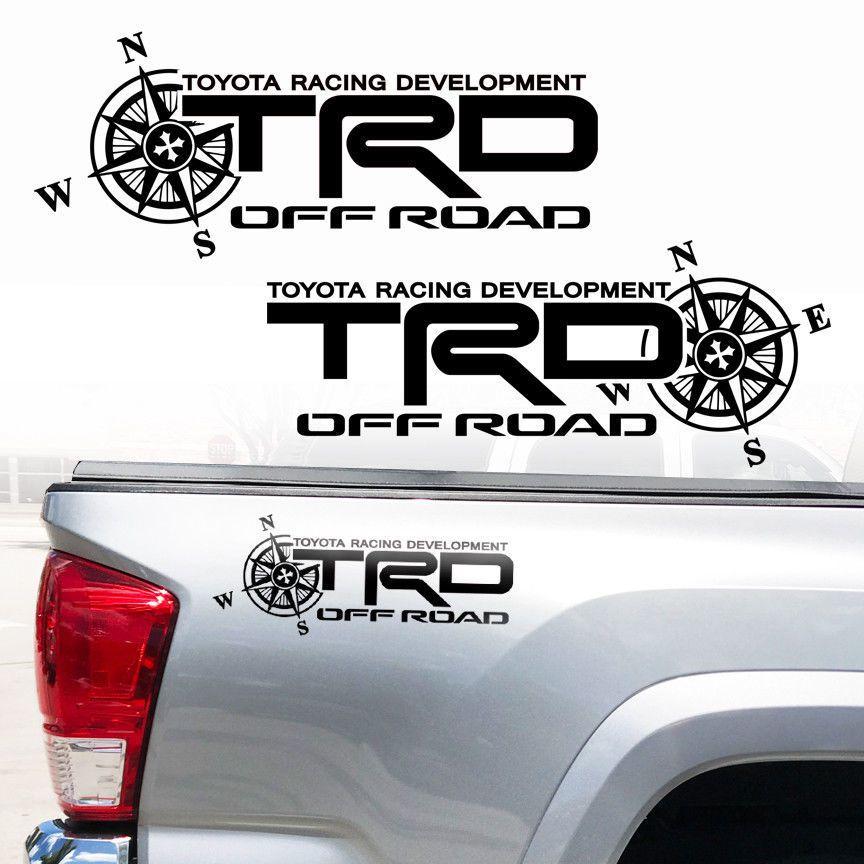 TRD Windshield Tacoma Tundra off road Racing Toyota 4x4 Decal Sticker Vinyl Logo