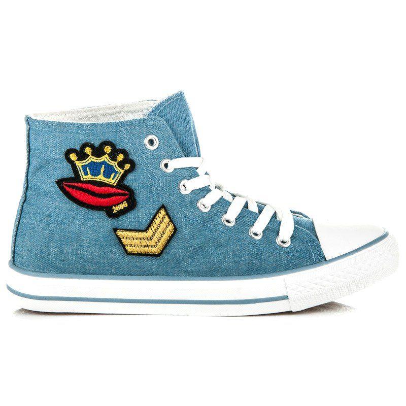Wysokie Tenisowki Na Wiazanie Niebieskie High Top Sneakers Converse Chuck Taylor High Top Sneaker Chucks Converse