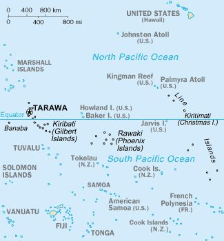 Tarawa Atoll In The Gilbert Islands Tarawa Gilbert - tarawa atoll map