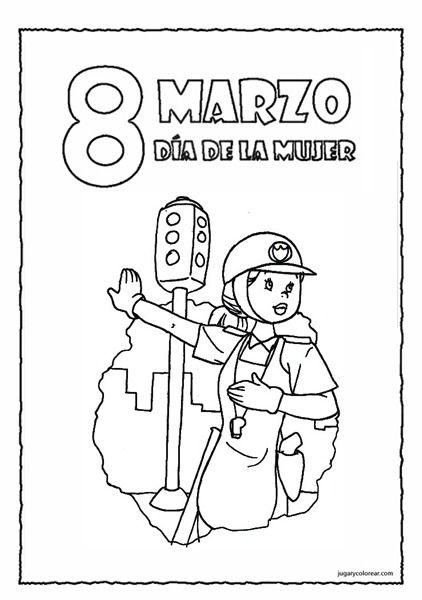 8 de marzo. Día de la mujer, agente de tránsito. | Día de la mujer ...