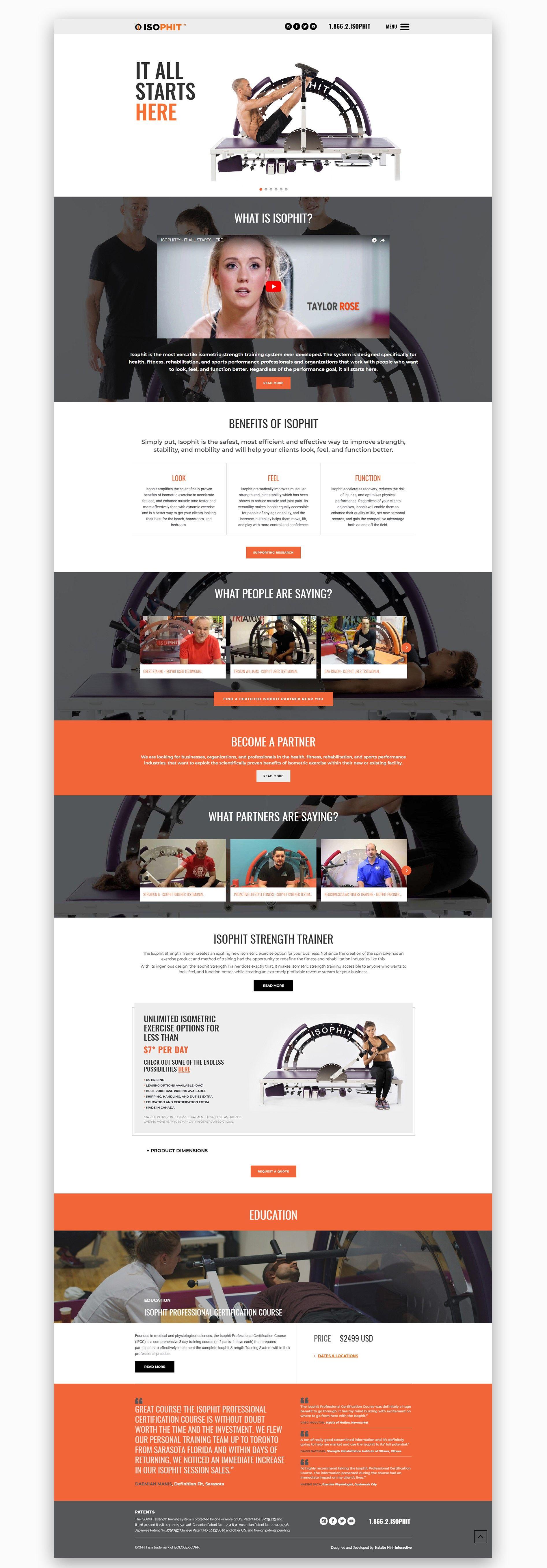 Isophit Website Design And Development Website Design Website Redesign Website Features
