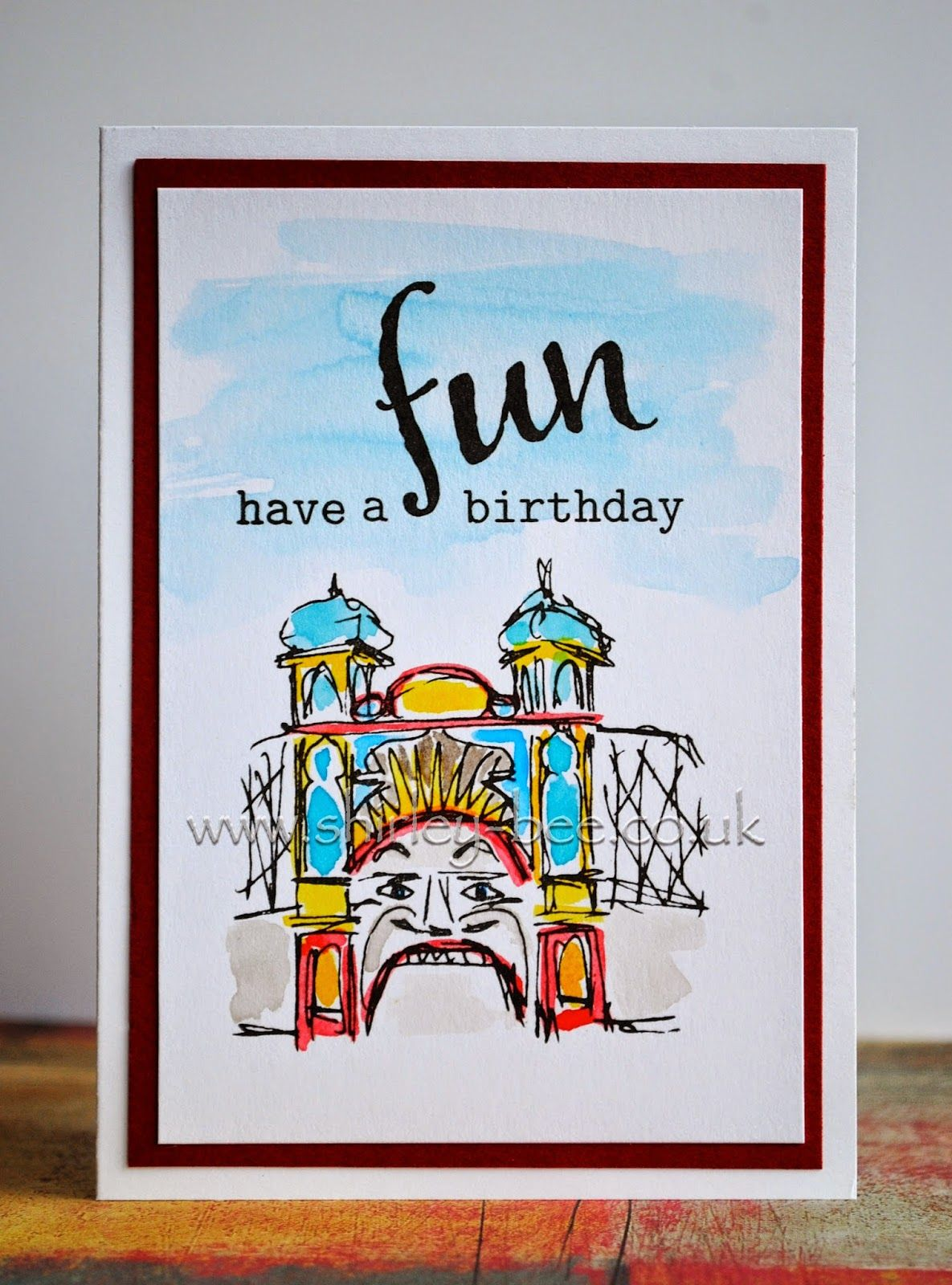 shirley-bee's stamping stuff: A Fun Birthday and A Blog Hop With A Difference