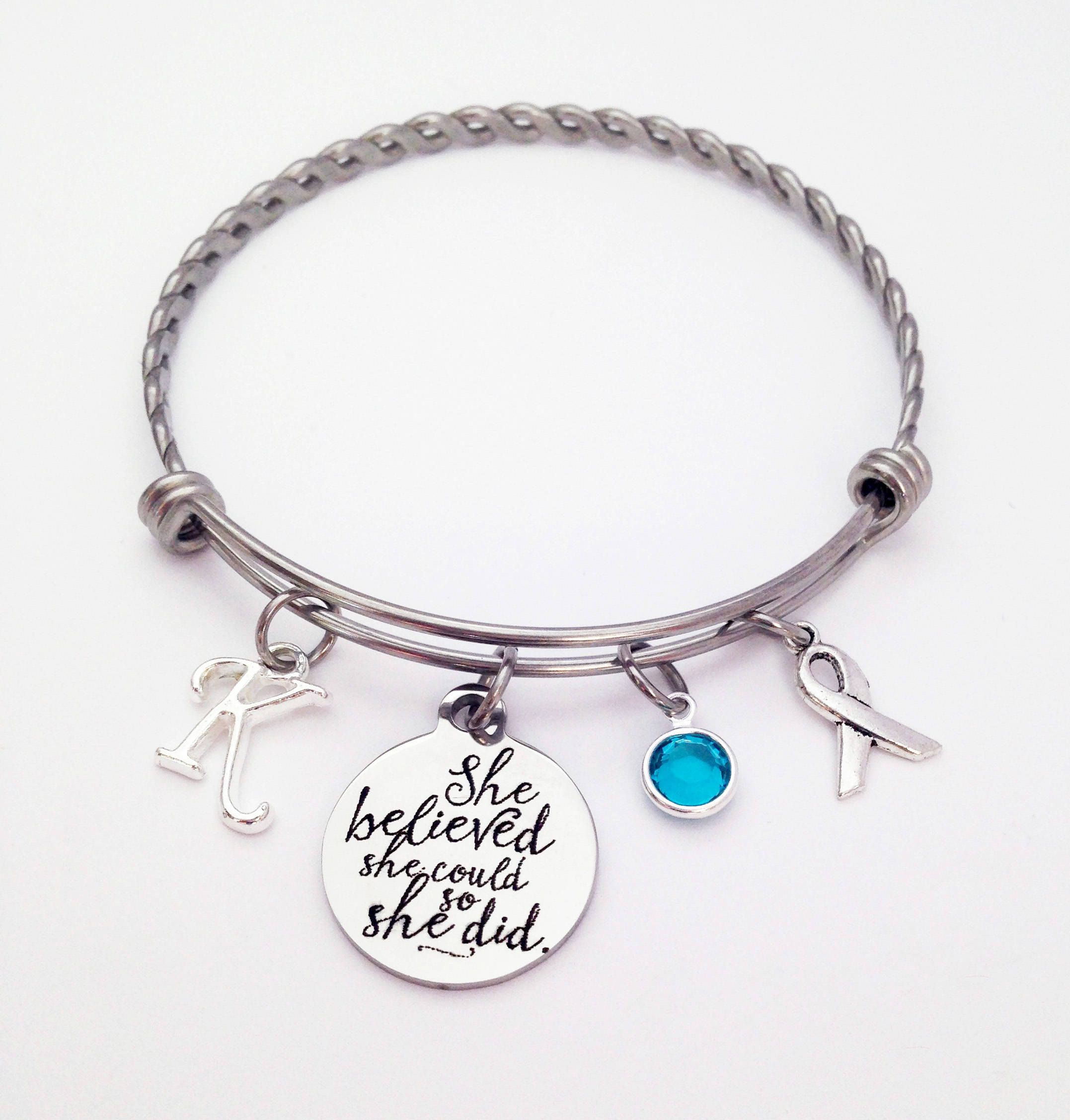ribbon faith charm than bigger ovarian gravis your trigeminal let be myasthenia gift fear fullxfull neuralgia cancer chemo il listing bracelet teal