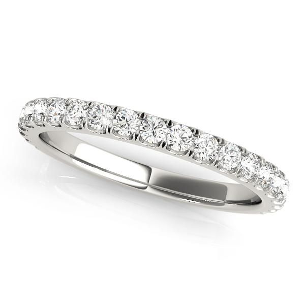 Elegant and stylish, this stunning Zara Women's Diamond Wedding Ring is a pave/prong set ring with diamonds on the band. This ring is available in 18 ct White / Yellow / Rose Gold Gold and Platinum 950 and is custom made to order. Ring specifications (approximately): Natural diamond side stones (GH SI1-2) or Lab Grown side stones (F-G VS-SI1) Approximate 3/8 ct. tw. (21 round .0200) Love this ring design? Simply select your preferred metal type and diamond type (Natural or Lab Grown Diamonds). T