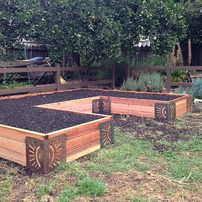 U Shaped Raised Bed Using The M Brace Garden Inspirations
