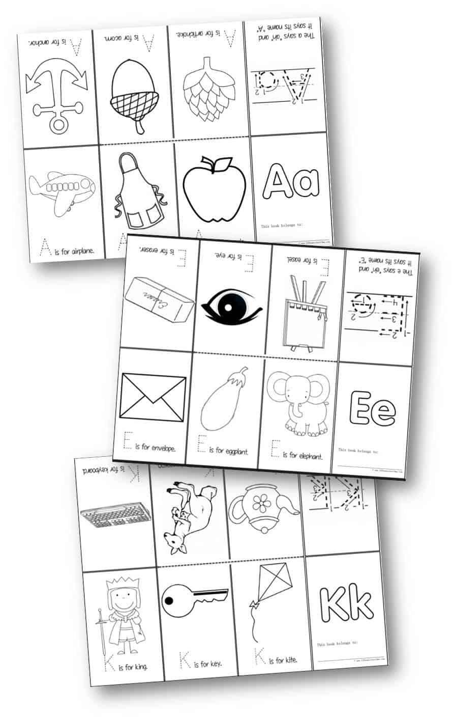 Alphabet Mini Book Printable | Alphabet mini book, Mini ...