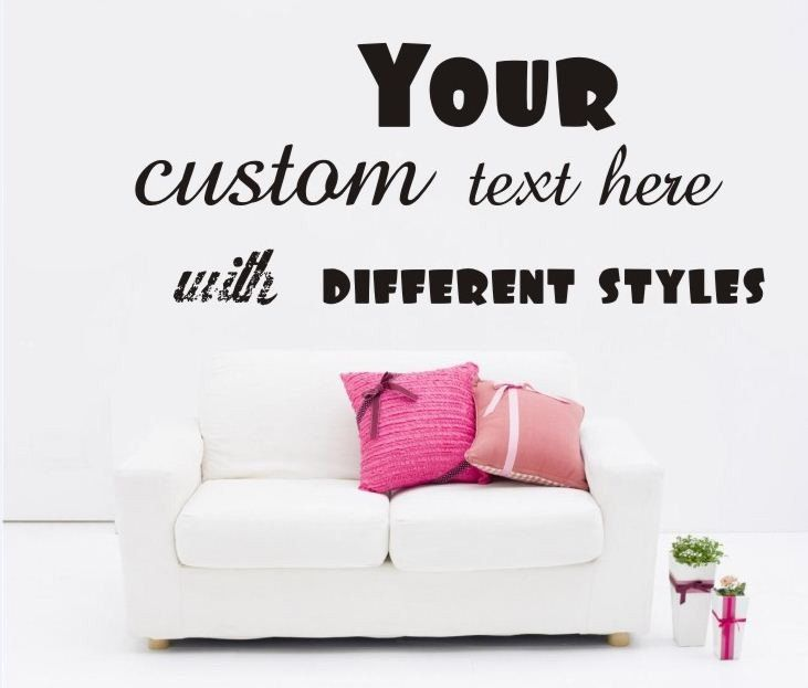 Room · large custom vinyl wall quote decal