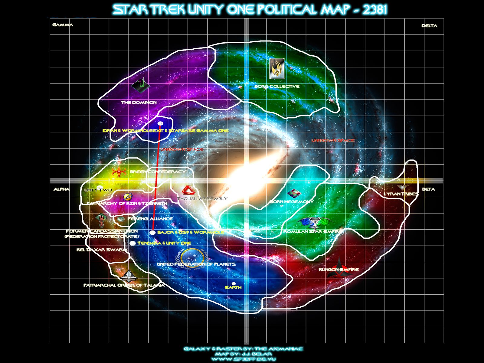 Star Trek Unity One Political Map 2381 Sci Fi Star Trek Star