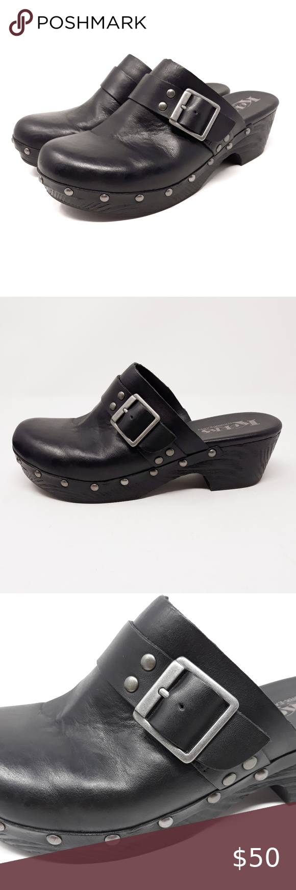 Korks by Kork Ease Kerstin Clog in Black Korks by