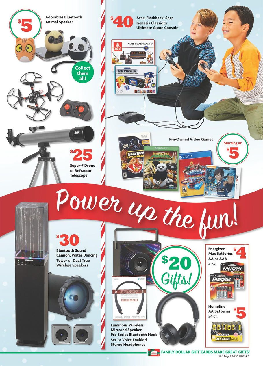 Family Dollar Gift Guide 2018 Ads And Deals Dollar Gift Family