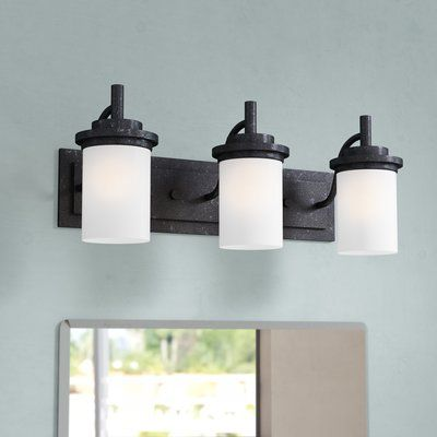 Charlton Home Tilford 3 Light Dimmable Vanity Light Wayfair In 2020 Vanity Lighting Bath Vanity Lighting Light