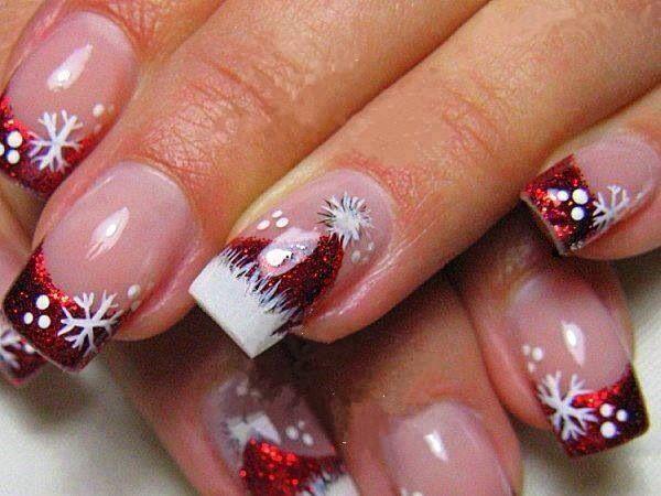 Holiday Nails Xmas Nails French Manicure Nails Holiday Nail Art