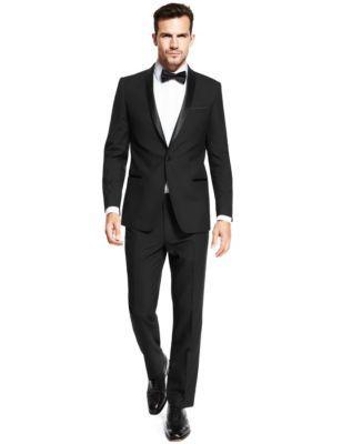 Black Slim Fit Dinner Suit | M&S