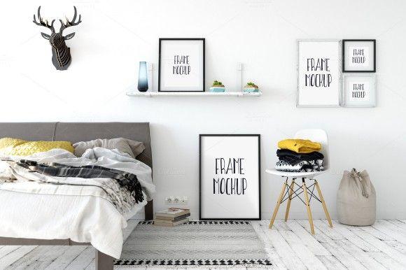 25 Best Interior Design Psd Mockup Templates Scandinavian Frames Frame Mockups Frame