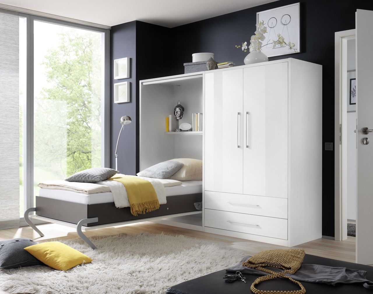 Klappbett Günstig Wand-klappbett 110 | Bed Price, Cabinet Bed, Home Decor