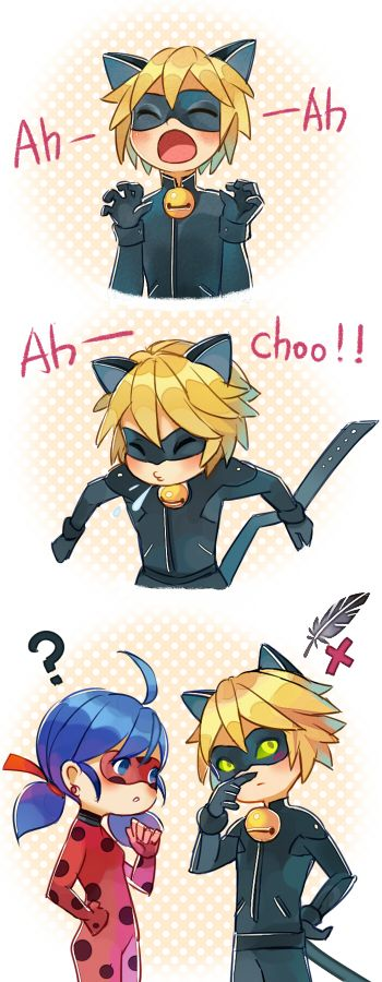 C(h)at Noir is also super cute when he is sneezing