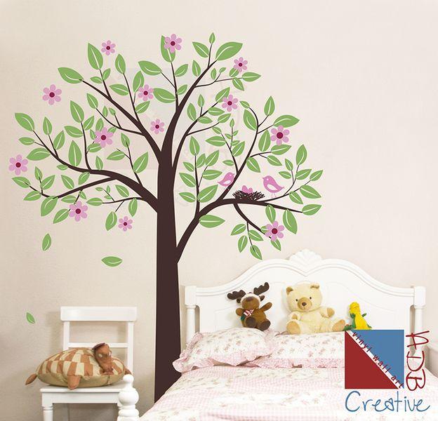 30%Sale Großformat Sticker Vögel Familie auf Baum  von Wall decor shop by creativeADB auf DaWanda.com