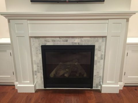 How to Build a Fireplace Surround and Mantel - YouTube   Mantels ...