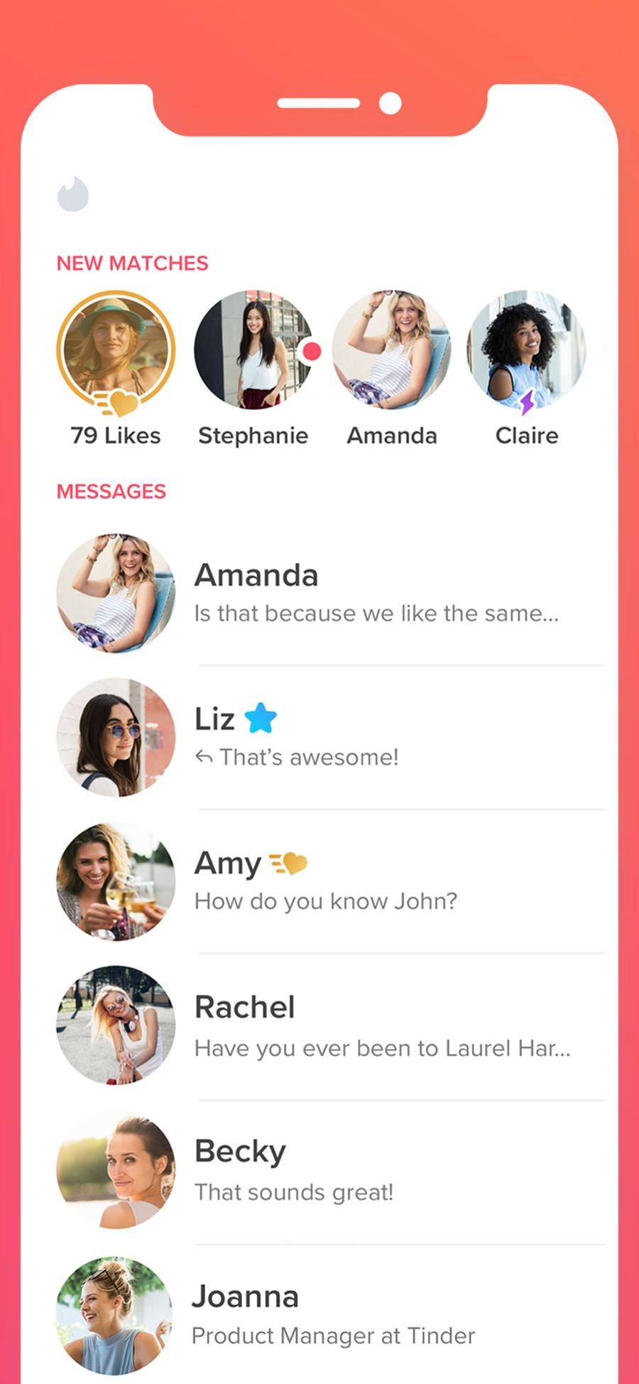 Tinder Tinder, App, Messages