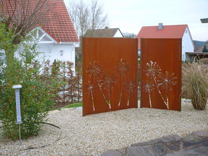 Paras Sichtschutz für den Garten aus Cortenstahl, Rost