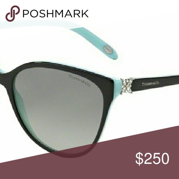 b3535dd434fe Brand new Tiffany sunglasses Model 4089B. Black and blue with Swarovski  crystals. Comes with official certificate