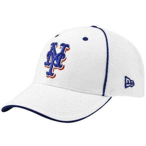 1e54a65fd31 MLB New Era New York Mets White Neo 39THIRTY Stretch Fit Hat by New Era.