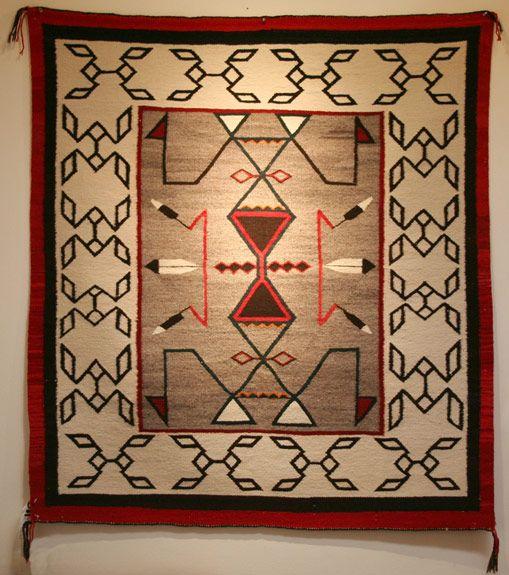 Native American Rugs In Santa Fe: A Dandy, 42 X 47, C.1930s (re:Morning Star
