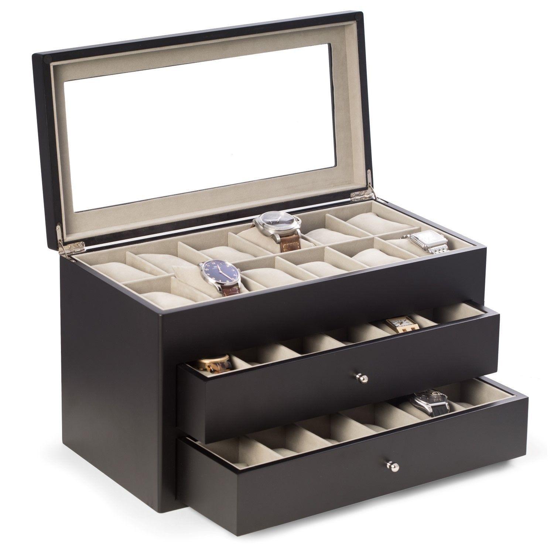 Bey Berk Vincent Solid 36-watch Box