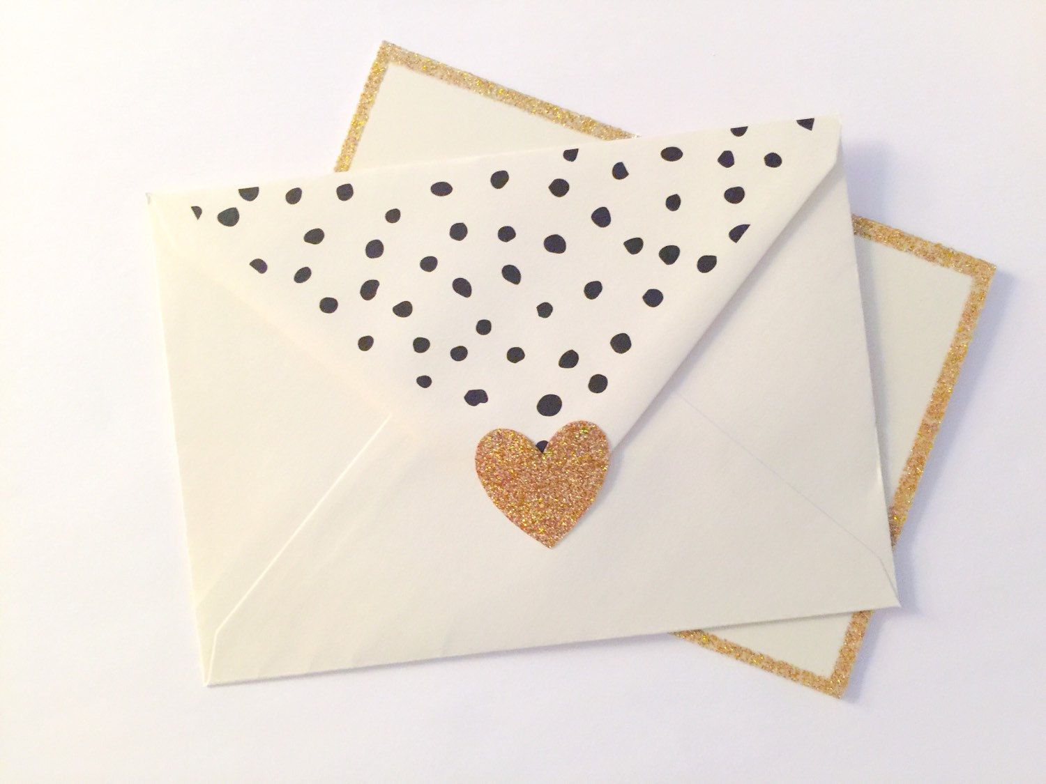 Gold Glitter Heart Envelope Seals 24 Count Large Stickers Envelop