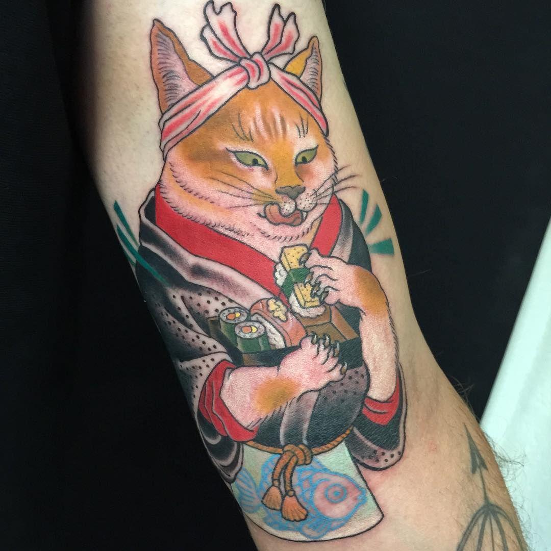 Japanese tattoos feb 27 frog tattoo on foot feb 25 japanese tattoo - Tattoo Cat Tat Japanese Catjapanese Stylematching Tattooscat