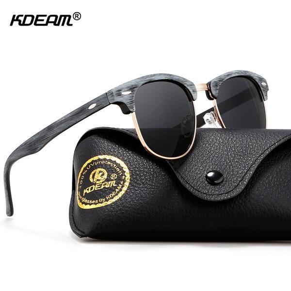 61bffd4801c  Fashion  BestPrice KDEAM Gold-tone Sunglasses Women Wood-Like Fashion Semi-