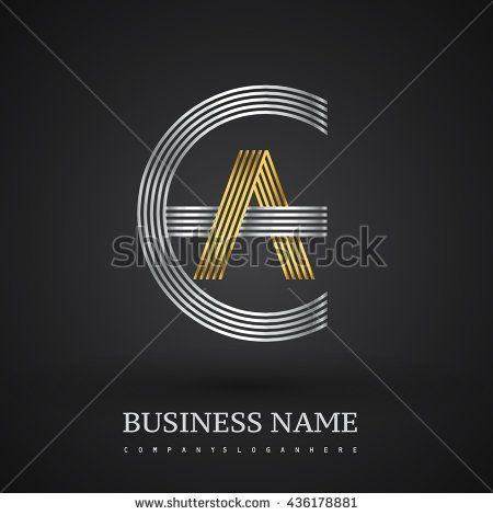 Letter Ea Or Ae Linked Logo Design Circle E Shape Elegant Silver