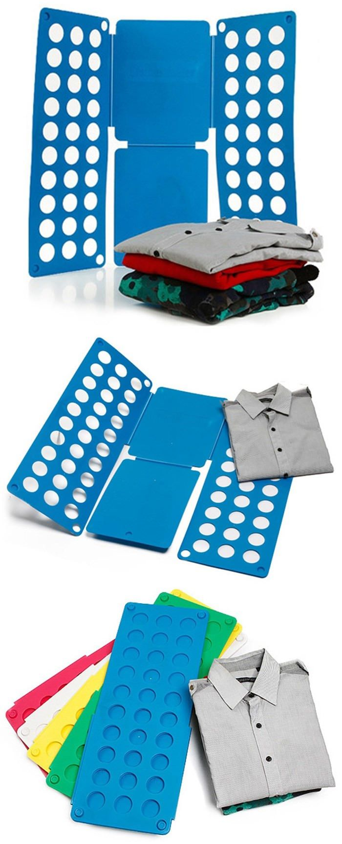 Practical Adjustable Garment Folding Board Clothes Folder Flip