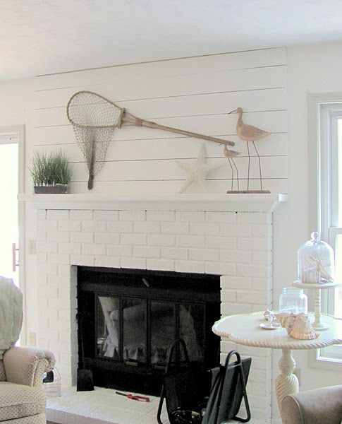 36 Breezy Beach Inspired Diy Home Decorating Ideas: Decorate A Mantel Coastal Cottage Style