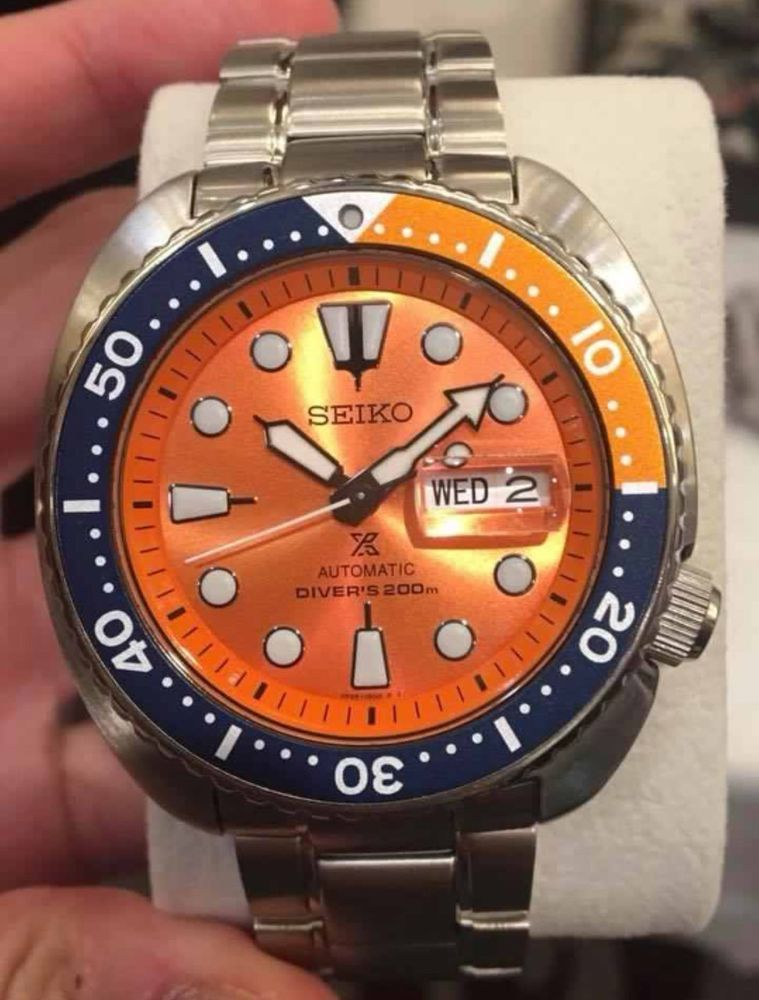 separation shoes 98b70 744b1 Details about Seiko SRPC95 Orange Turtle Limited Edition ...