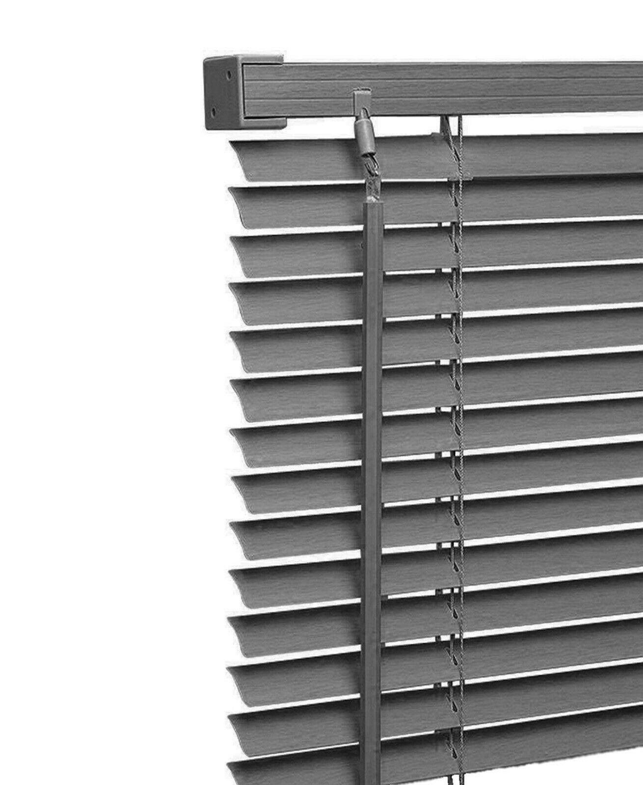 New Pvc Blinds Window Venetian White Easy Fit Home Office Blind Wood Effect All Sizes Pvc Blinds Blinds Blinds For Windows