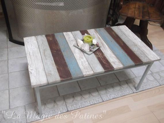 table basse salon style bord de mer cot mer pinterest table basse salon table basse et bord. Black Bedroom Furniture Sets. Home Design Ideas