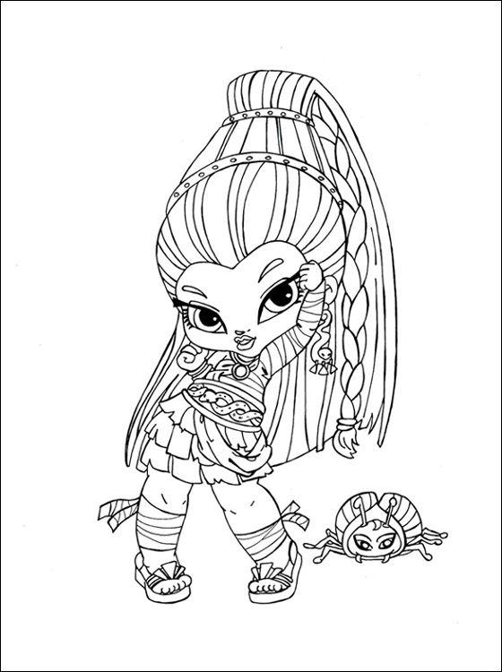 Nefera de Nile Monster High a imprimer | Coloriage à imprimer gratuit | Coloriage dessin animé ...