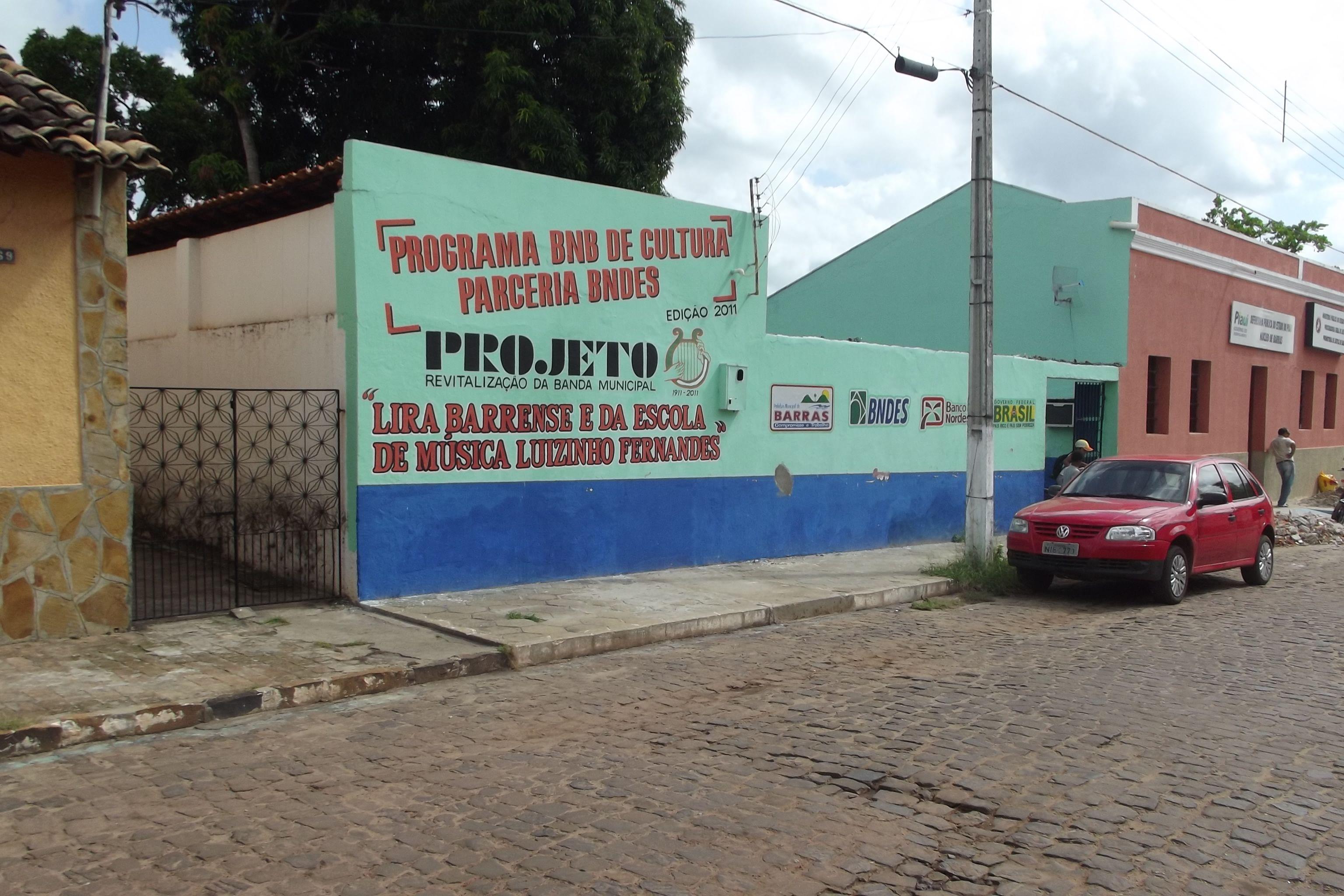 Banda Lira Barrense e da Escola de Música Luizinho Fernandes - Barras - Piauí