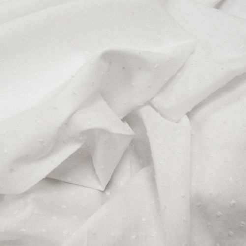Fabric Store - Swiss Dot Voile - ML206750 - White