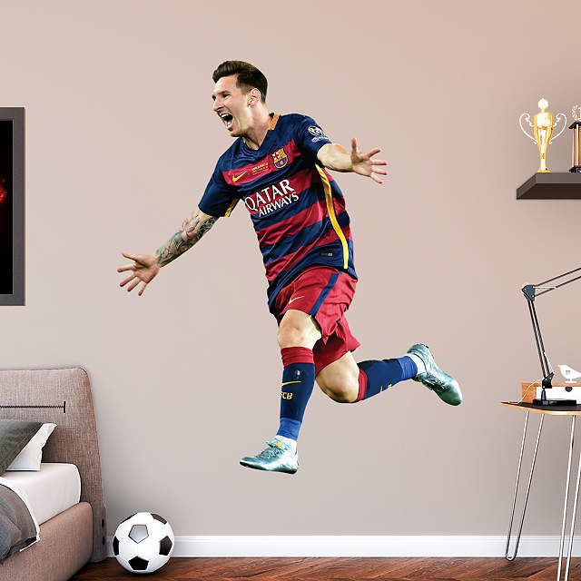 Life Size Lionel Messi Celebration Wall Decal Shop Fathead