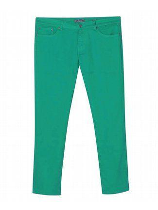 Five Pocket Jade Colored Jeans $42