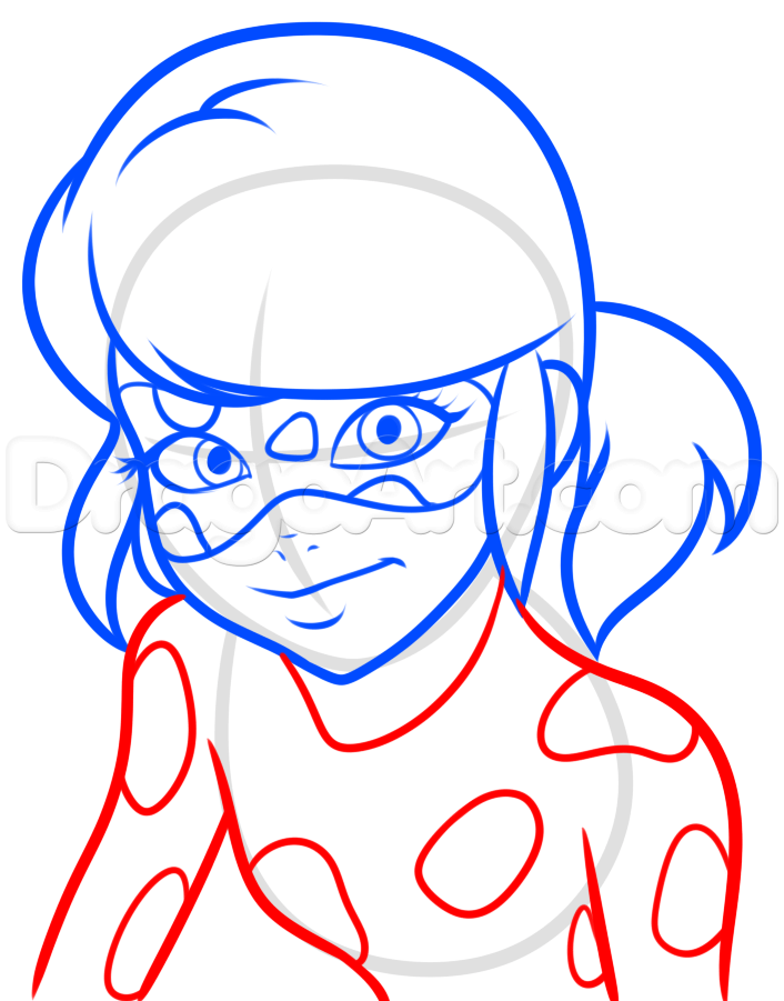 How To Draw Miraculous Ladybug Step 6